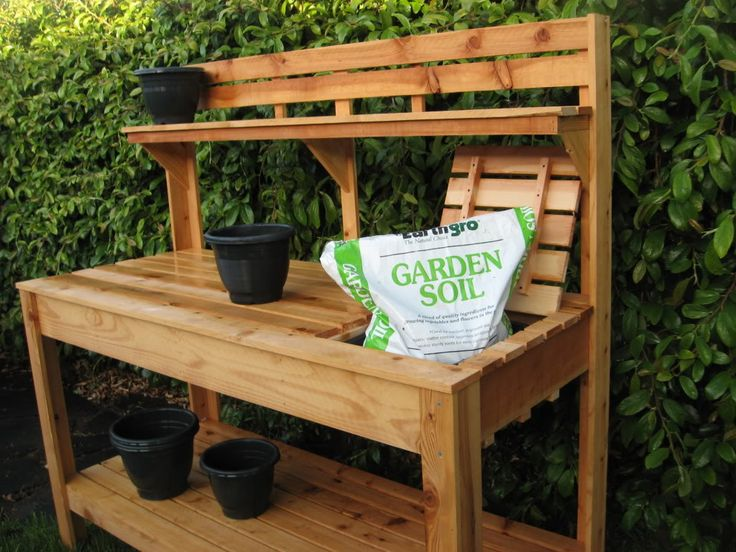 custom raised gardens potting bench garden pinterest