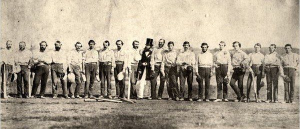 On this day in 1846, the first-ever professional baseball game was played between the New York Knickerbockers and the New York Nine.    The New York Knickerbockers lost 23-1 to the New York Nine in fo