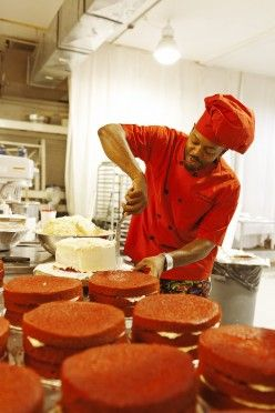 Cake Man Raven at his bakery in Brooklyn « the selby Red Velvet cakes