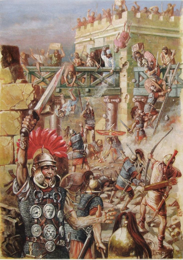 The assault on the temple in Jerusalem, courtesy of Just Gimeno