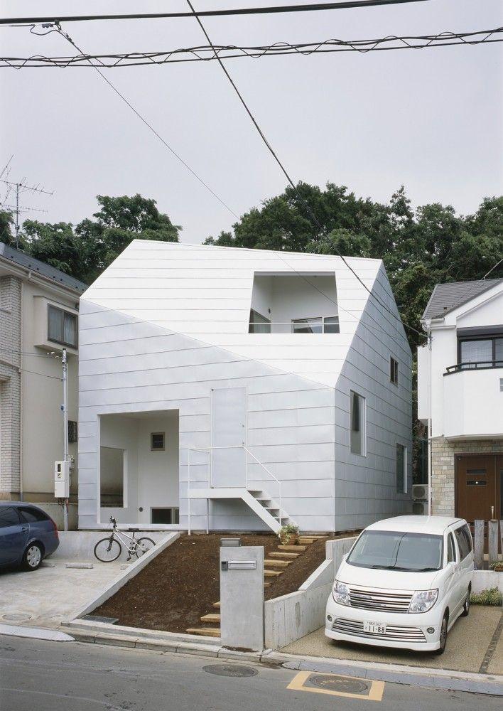 Casa minimalista branca no Japão por Tetsuo Kondo   – Arbeitsplatz