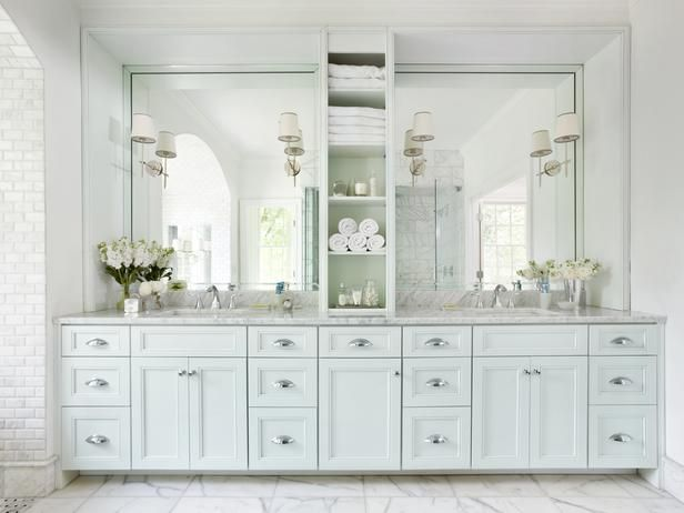107 Best Bathroom Lighting Over Mirror Images On Pinterest: Large Framed Mirrors, Open