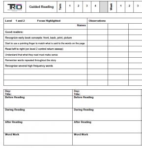 Guided reading planning sheets that cover levels 1-26. The teaching points are clear and relevant to each level. Easy to use and free!