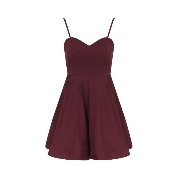 Sweetheart Flared Dress by Glamorous Petites (€22) ❤ liked on Polyvore featuring dresses, plum, sweetheart neck dress, plum prom dresses, cinched waist dress, sweetheart neckline prom dress and sweetheart dress