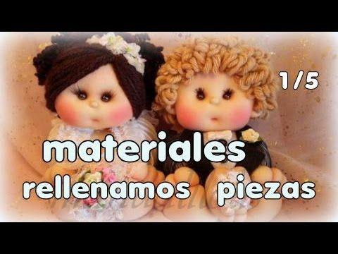 muñecos novios culoncetes , materiales y rellenado de piezas 1/5, manual...