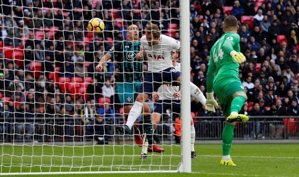 Harry Kane opens the scoring and breaks Alan Shearer's record for most Premier League goals in a calendar year