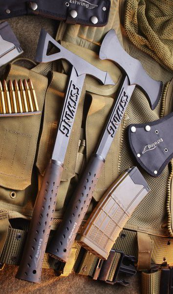 Estwing EBTA Black Eagle Tomahawk Axe with Black Matte Finish & Shock Reduction Grip
