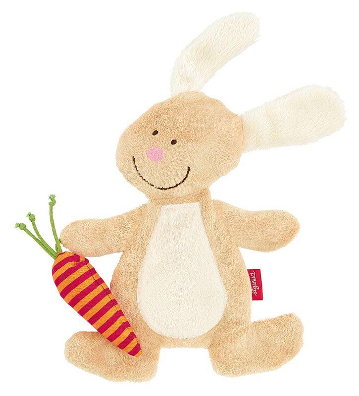 sigikid - Knister-Schmusetuch Hase. Spielen, Entdecken, Kuscheln und Träumen - das zauberhafte Hasen-Schmusetuch macht Babys im Alltag rundum glücklich. Die softe Haptik und spannende Geräusche (Rassel, Knistermöhre) machen es schnell zum liebsten Begleiter durch dick und dünn.
