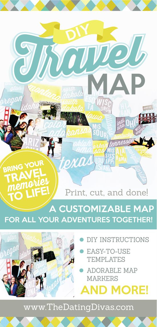 This DIY travel map...I am obsessed! It is perfection! Totally done-for-you, too - my favorite part! (Just print and cut!)