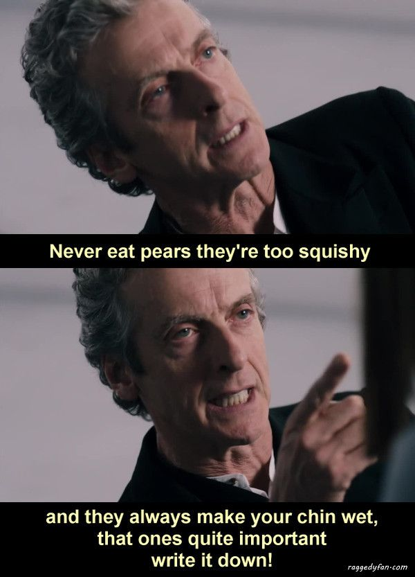 advice from doctor who about eating pears