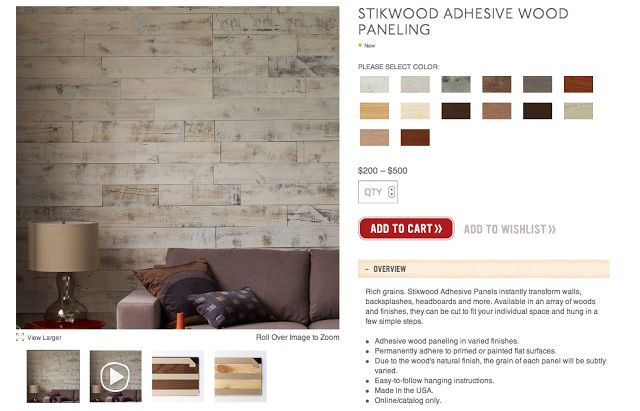 West Elm, Stikwood - the world's first peel and stick solid wood paneling.  /What? | Products and Projects | Pinterest - West Elm, Stikwood - The World's First Peel And Stick Solid Wood