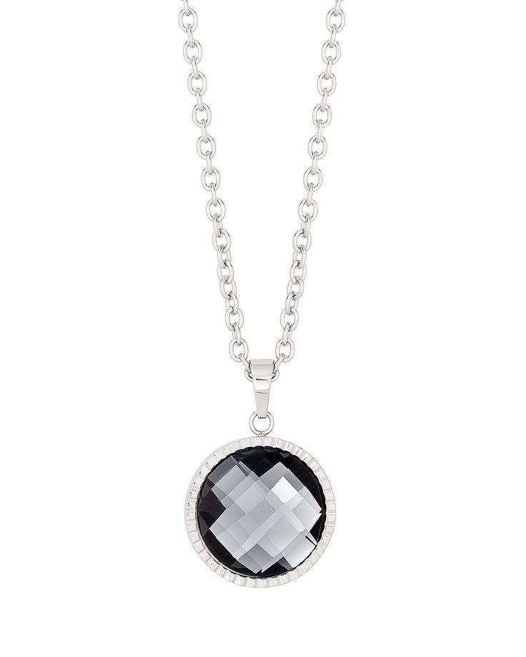 #Halskette lang mit Kristallanhänger grau by S. OLIVER - get it now at #VALMANO! #trend #female #male #fashion #accessoires #watch #uhr #jewellery #jewelry #schmuck