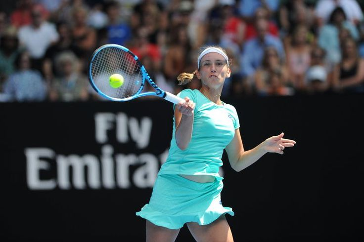 Melbourne centre - Flinders Park stade - Elise Mertens Belgique  TENNIS : Open Australie 25/01/2018 © PanoramiC / PHOTO NEWS PICTURES NOT INCLUDED IN THE CONTRACTS  ! only BELGIUM !