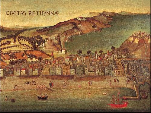 Rethymnon17th - Category:Old maps of Crete - Wikimedia Commons