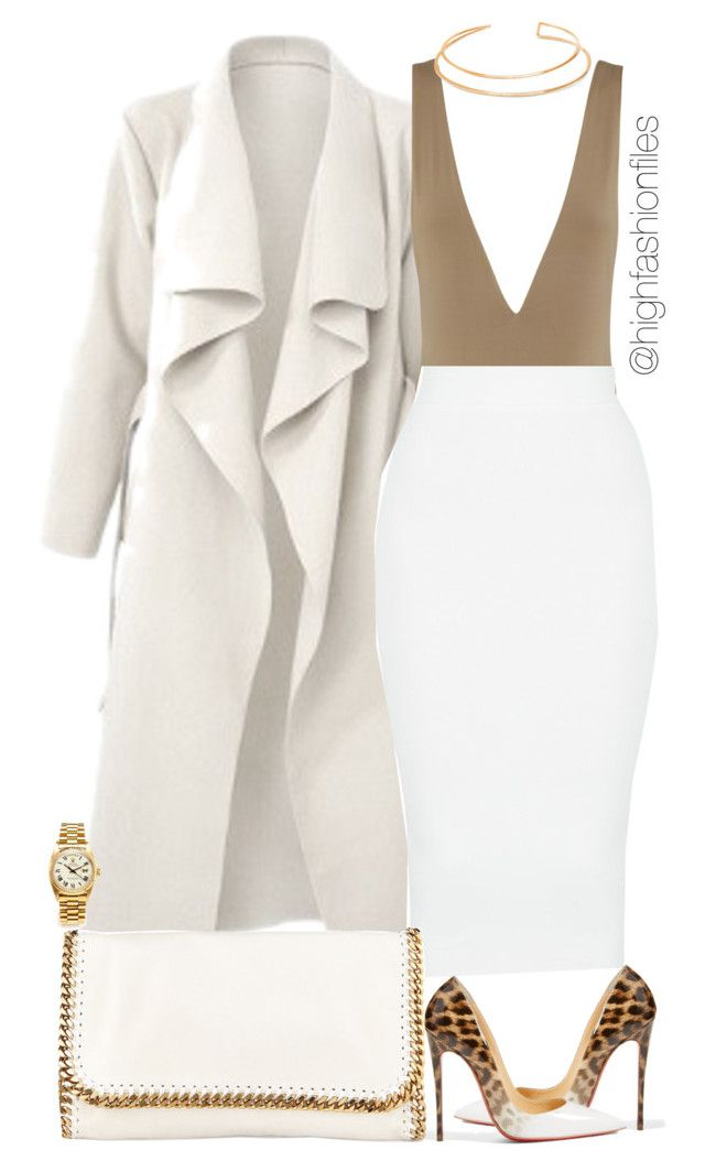 """""""Grind don't stop"""" by highfashionfiles ❤ liked on Polyvore featuring Christian Louboutin, BERRICLE, STELLA McCARTNEY and Rolex"""