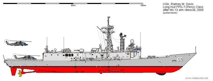 FFG-60 Rodney M Davis 2005. Oliver Hazard Perry Class
