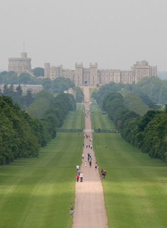 The long walk at Windsor Castle