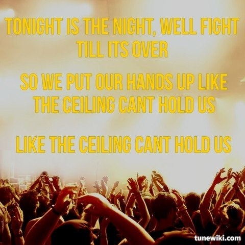 -- #LyricArt for Cant Hold Us - feat. Ray Dalton by Macklemore & Ryan Lewis