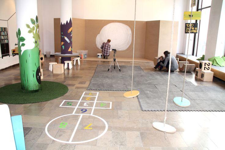 "Scenography of the exhibition ""Design for kids"" Dizajn Gallery.  Cooperation Maja Łukaszewicz Wolff .  Visual identification: Group Projektor, Wojciech Otecki"