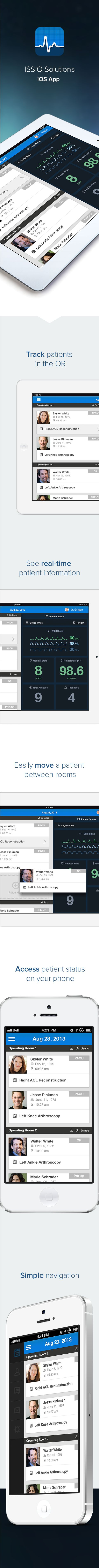 Issio Solutions |  EMR Application (iOS) by Steve Chen, via Behance
