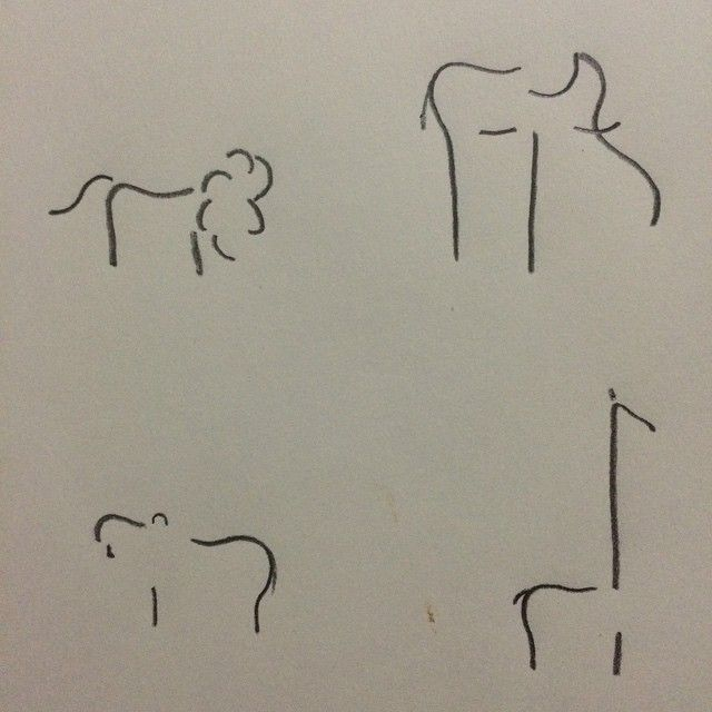 Simple line animals #flash #tattoo #practice #artbypa #art #animals #memphis…