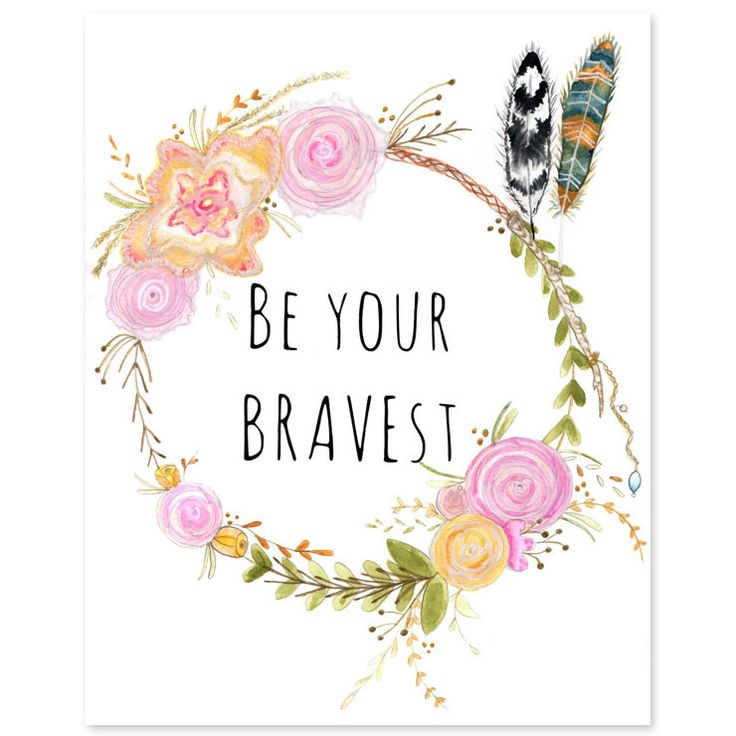 """This delicate print brings to life one of artist Amber Michelle's original watercolor paintings and is a great reminder to our little ones to be their bravest. Dimension & Details: - 8""""x10"""" Profession"""