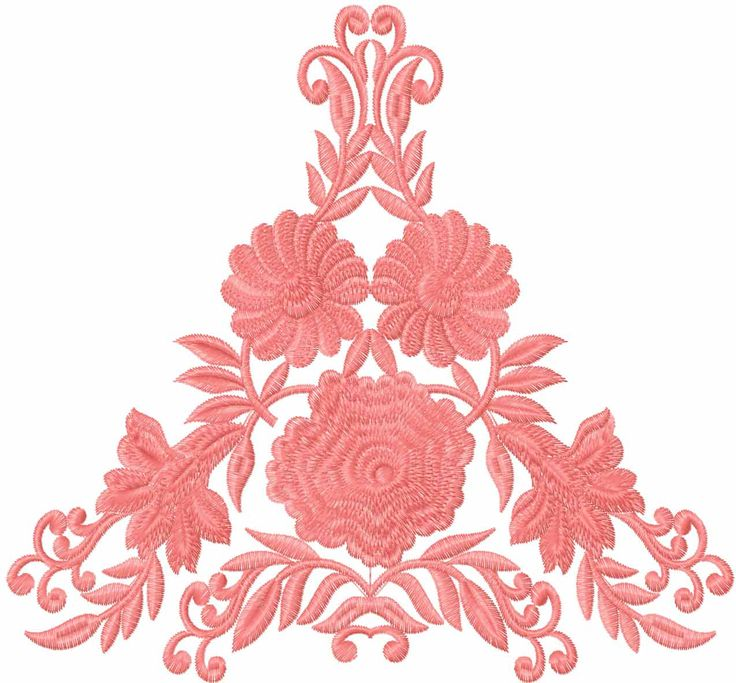 Big roses decoration element free embroidery design - Flowers free machine embroidery designs - Machine embroidery community