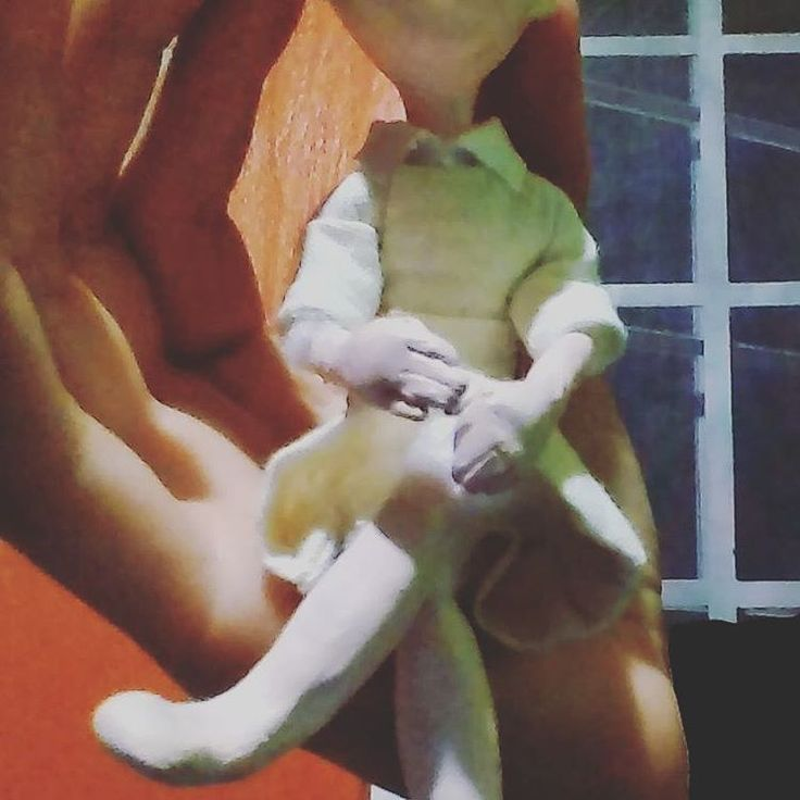 She is small and loved #clay #art #doll #handmade #craft #canellacrafts #toy (at Granville Island)