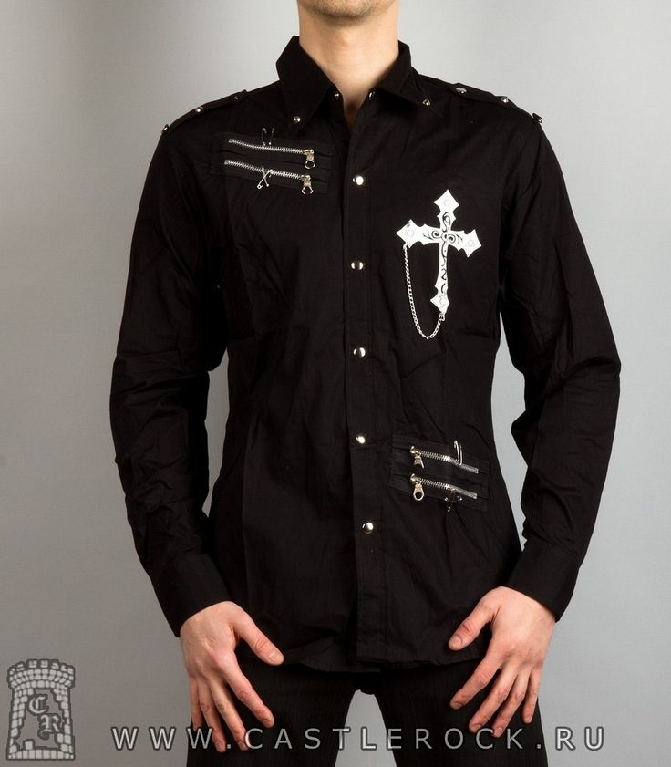 Рубашка с длинным рукавом Крест - Рок-магазин рок атрибутики Кастл Рок