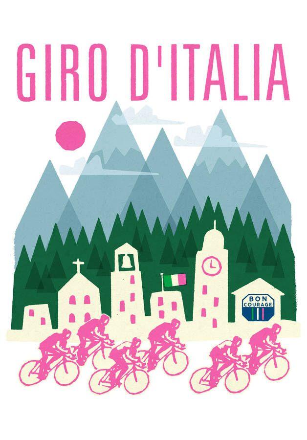 Giro D'italia Cycling Poster