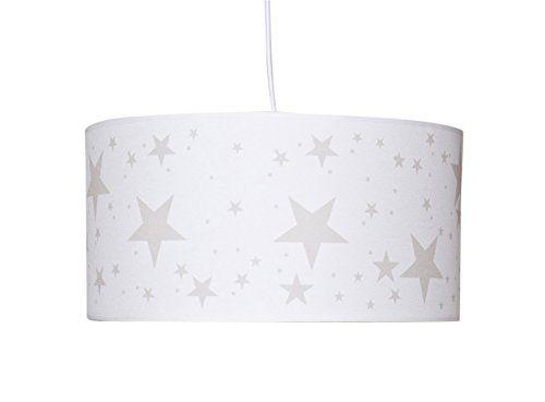 Luminaire enfant lampe de plafond suspension blanc avec etoile beige b b s - Plafond chambre etoile ...