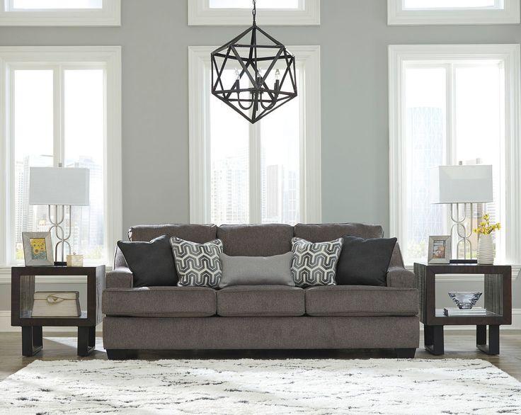 Ashley Gilmer Gunmetal Sofa Couch Furniture Sofa