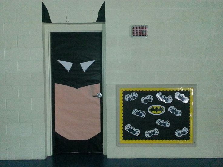 Classroom Decoration Ideas For Grade ~ Batman classroom door crafts for the