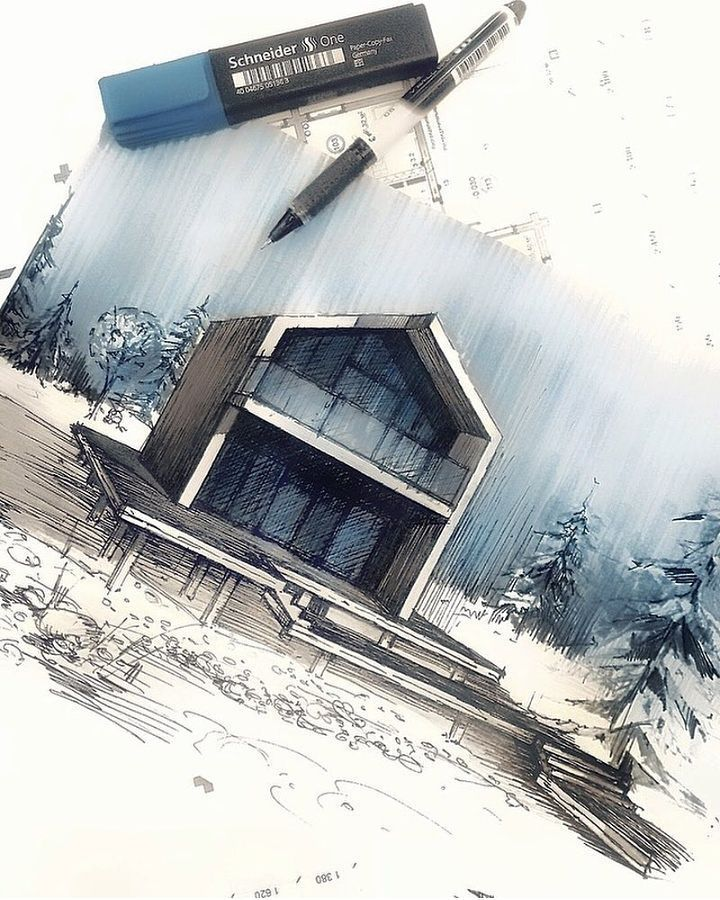 "4,852 Likes, 11 Comments - Architecture - Daily Sketches (@arch_more) on Instagram: ""By @syahdaud #arch_more"""