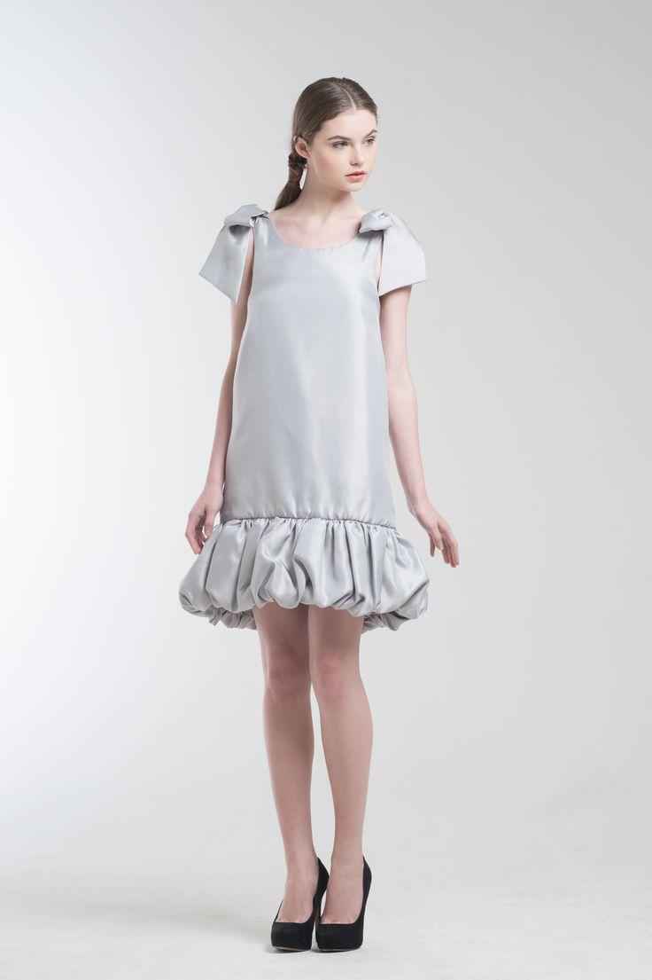 Liz Dress in Grey from Jolie Clothing  #JolieClothing www.jolie-clothing.com  #Fashion #designer #jolie #Charity #foundation #World #vision #indonesia  #online #shop #stefanitan #fannytjandra #blogger