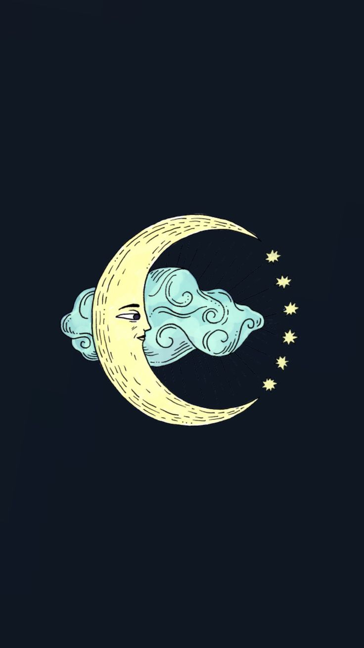 Moon in the clouds wallpaper | made by Laurette | instagram:@laurette_evonen