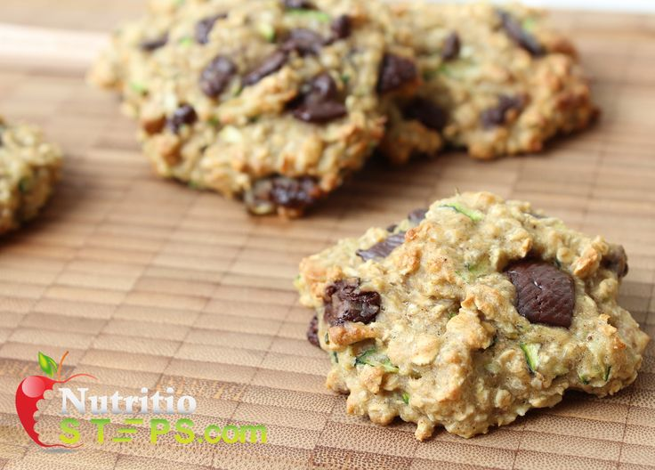 HOMEMADE SOFT CRUNCHY SQUASH/ZUCCHINI OAT CHOCOLATE CHIP COOKIES