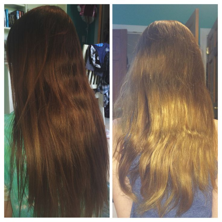 Color Oops! Hair Color Remover: before and after. My hair