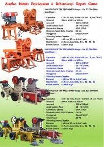Mesin Penghancur Batu atau Mesin Stone Crusher Mini