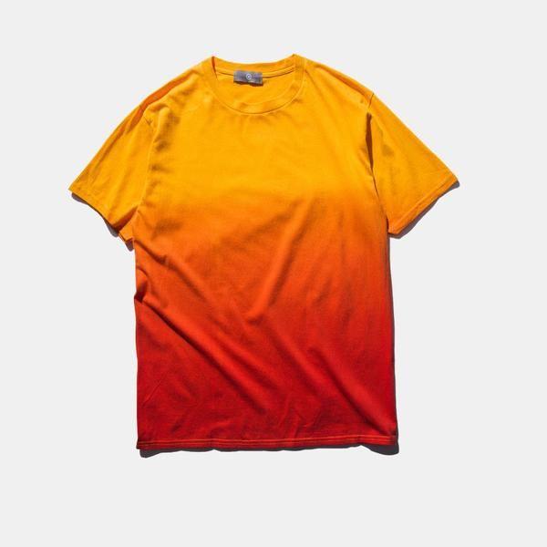 7colours Unisex Urban Clothing T-shirts Tie Dye Colored Gradual Tshirt