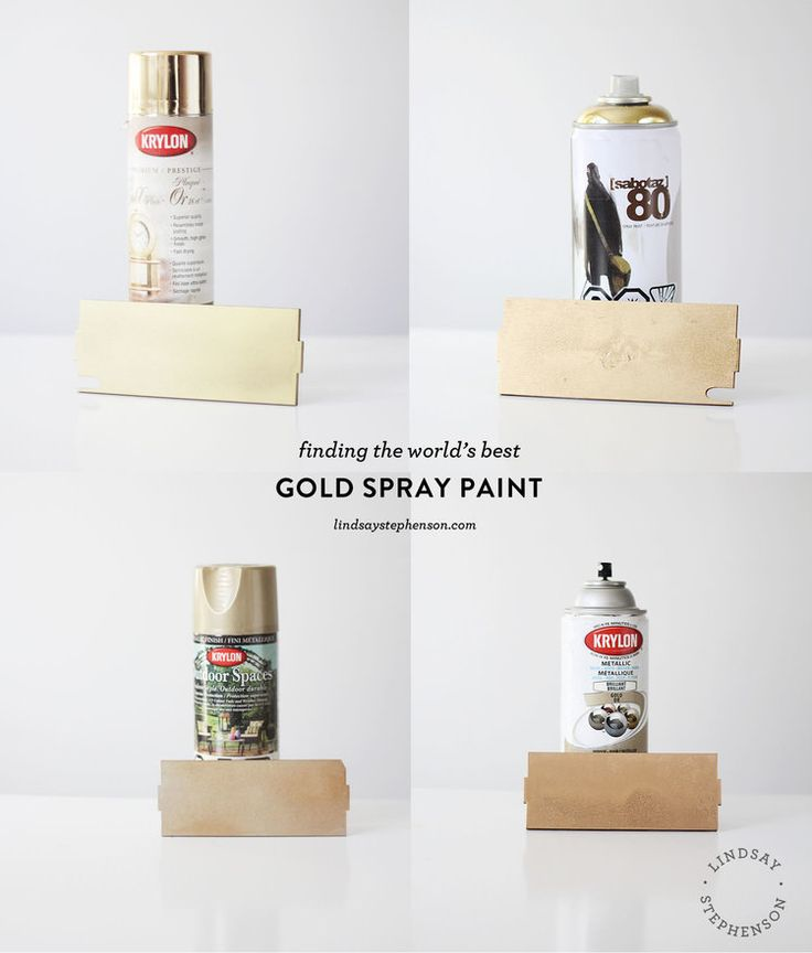 Finding the World's Best Gold Spray Paint