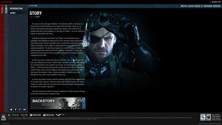Informações do jogo - Metal Gear Solid V