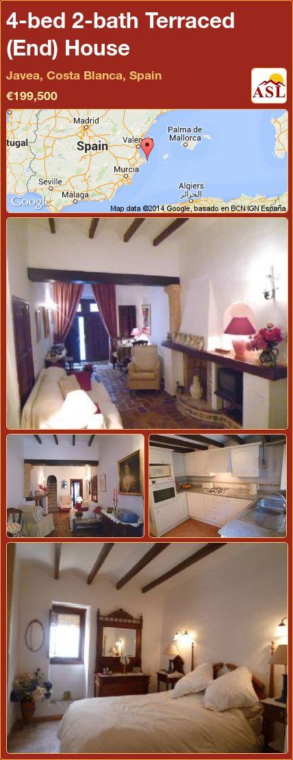 4-bed 2-bath Terraced (End) House in Javea, Costa Blanca, Spain ►€199,500 #PropertyForSaleInSpain