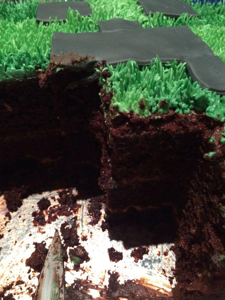 Triple layered Hersheys Cake with Caramel Filling