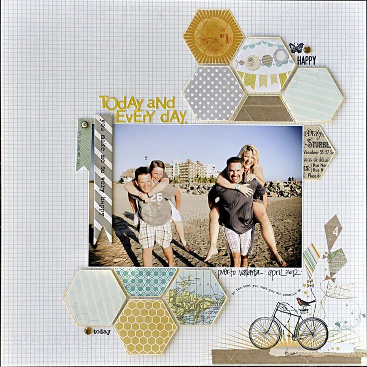 love the line of those honeycomb: Scrapbook Ideas, Eye Blog, Scrapbook Inspiration, Scrapbook Photos, Hexagons Layout, Layl Koncar, Scrapbook Pages, Scrapbook Layout Blue Eye, Mindfulness Eye