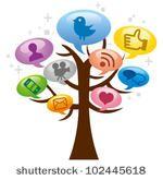 Modern social media abstract and tree by yukipon, via ShutterStock