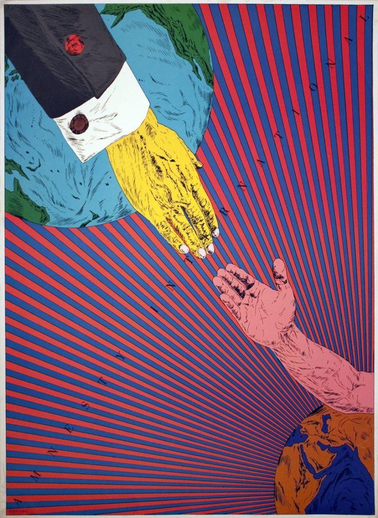 Amnesty International poster - 横尾忠則 (Tadanori Yokoo)