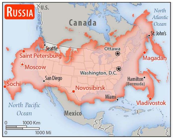 Country Size Compared To Usa North America Map Usa Map Country Maps