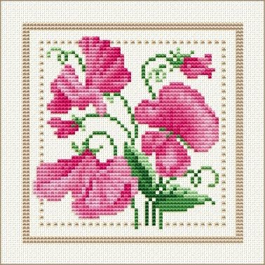 Download the chart  Meaning of sweet pea: Delicate; Blissful pleasure; Thanks for a lovely time.