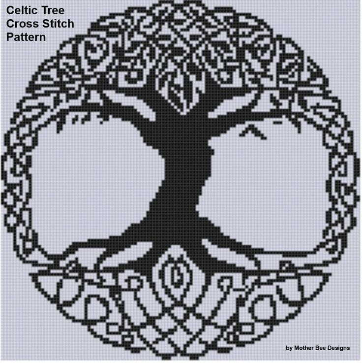 Yggdrasil cross stitch pattern